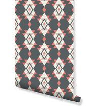 Peel and Stick Wall Vinyl Geometric Ethnic Retro Boho Triangles Wall Decor Removable Washable Wallpaper, Custom Sizes Available CC110