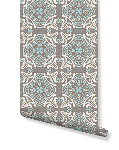 Self Adhesive Traditional Moroccan Tile Removable Wallpaper CC158