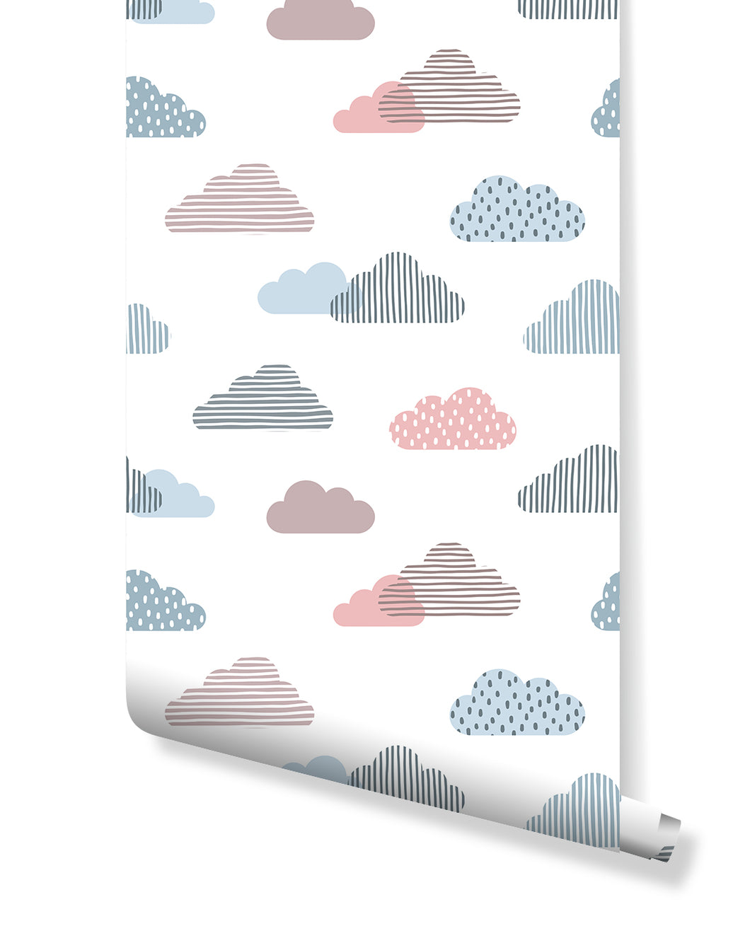 Self Adhesive Colorful Clouds Removable Wallpaper CC196