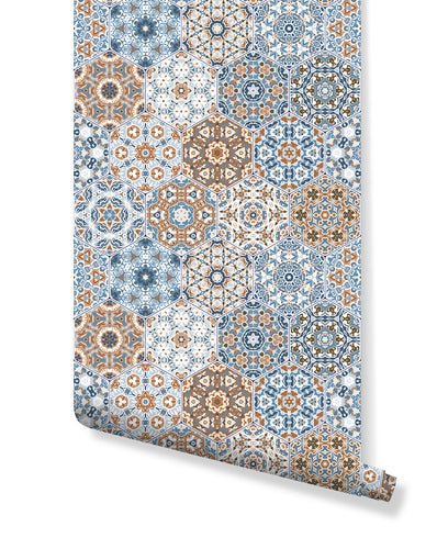Self Adhesive Moroccan Tile Removable Wallpaper CC198