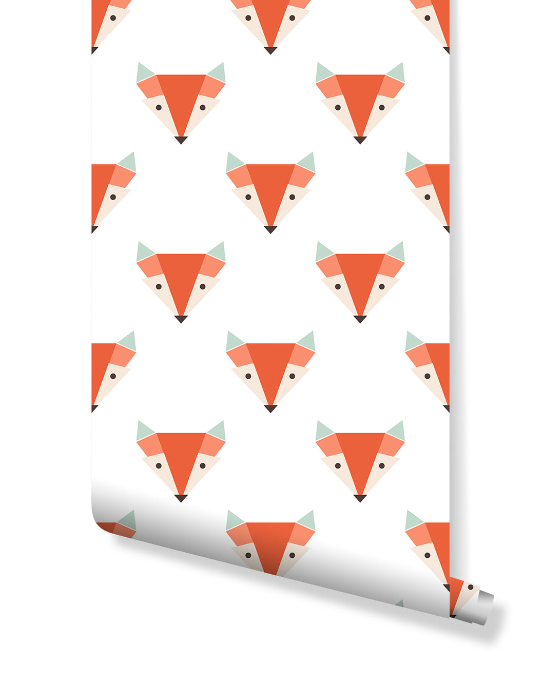 Self Adhesive Geometric Vector Fox Removable Wallpaper CC201