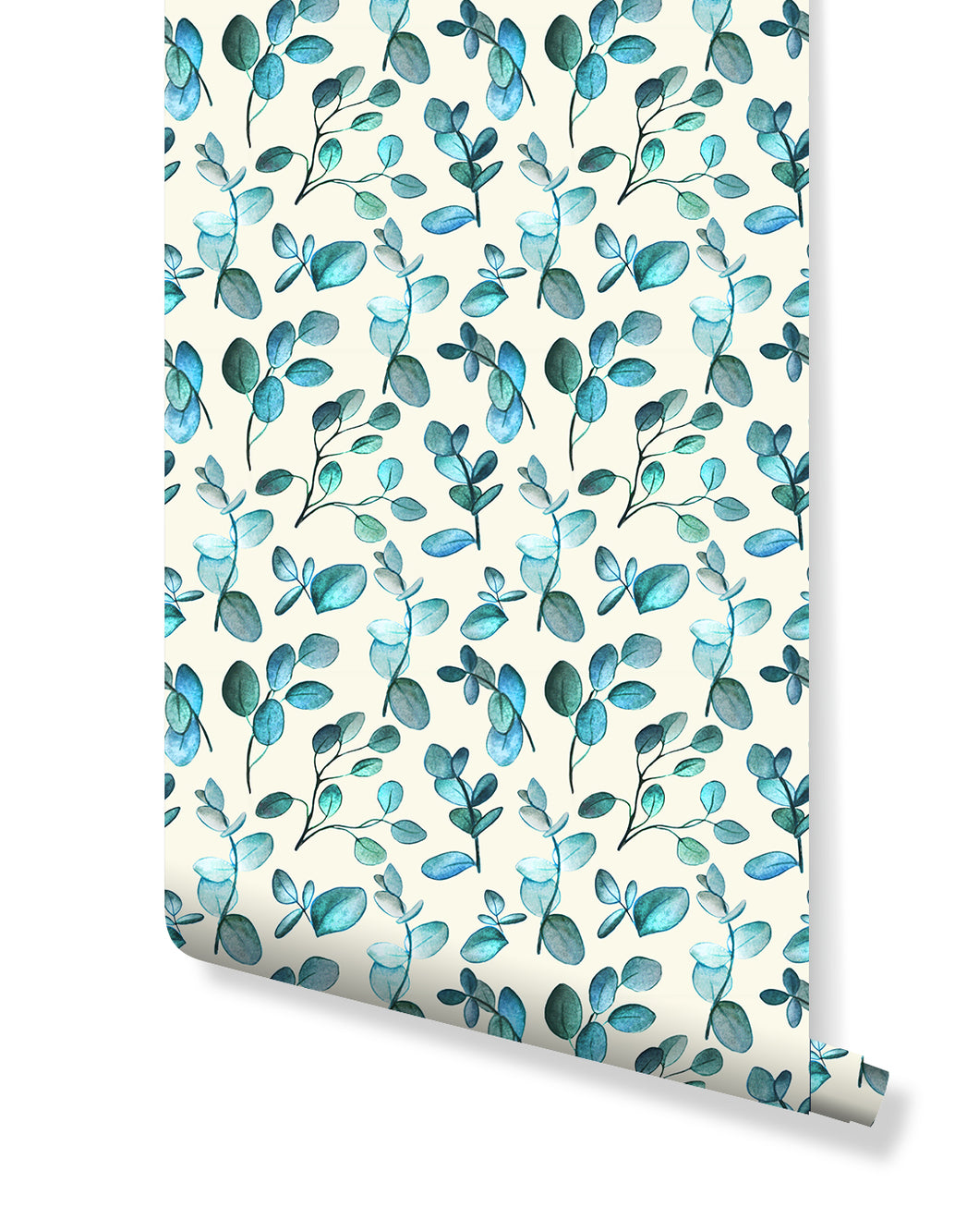 Self Adhesive Aqua Twigs Removable Wallpaper CC213