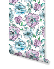 Self Adhesive Watercolor Roses Removable Wallpaper CC214