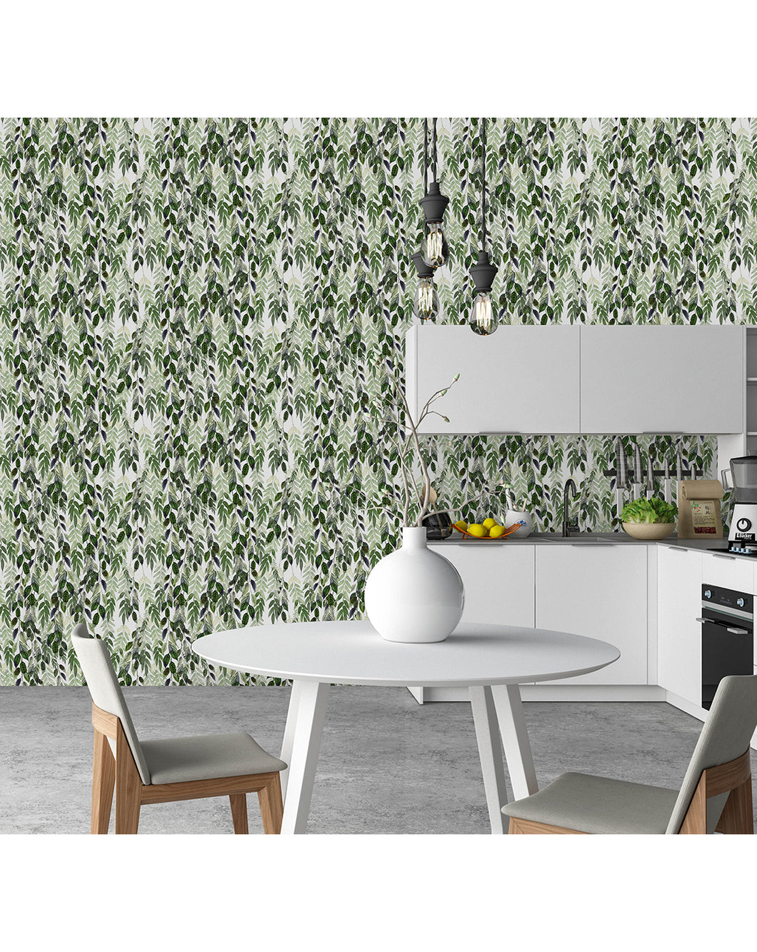 Self Adhesive Hanging Vines With Green Leaves Removable