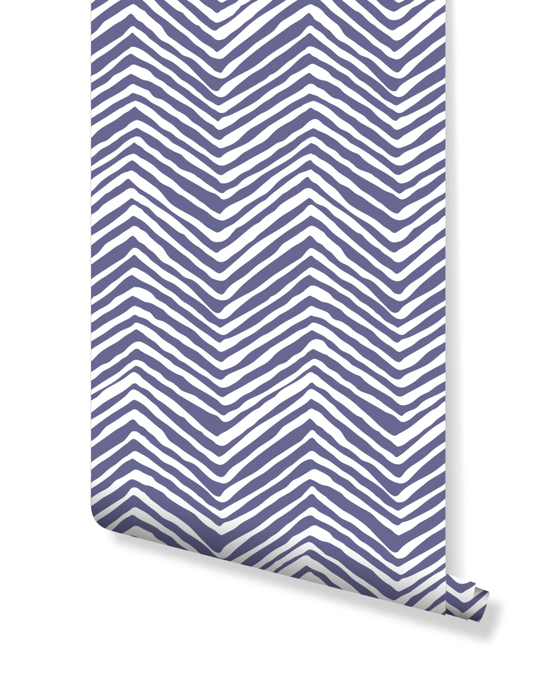 Twilight Purple Chevron ZigZag Removable Wallpaper For Renters Self Adhesive Vinyl Wall Sticker Custom Colors Available