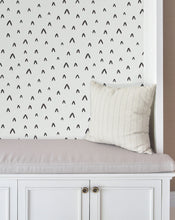 Renters wallpaper Removable sticker wallpaper Cute Abstract in black & white Retro Chevron Decorative Minimalistic wall covering CC018