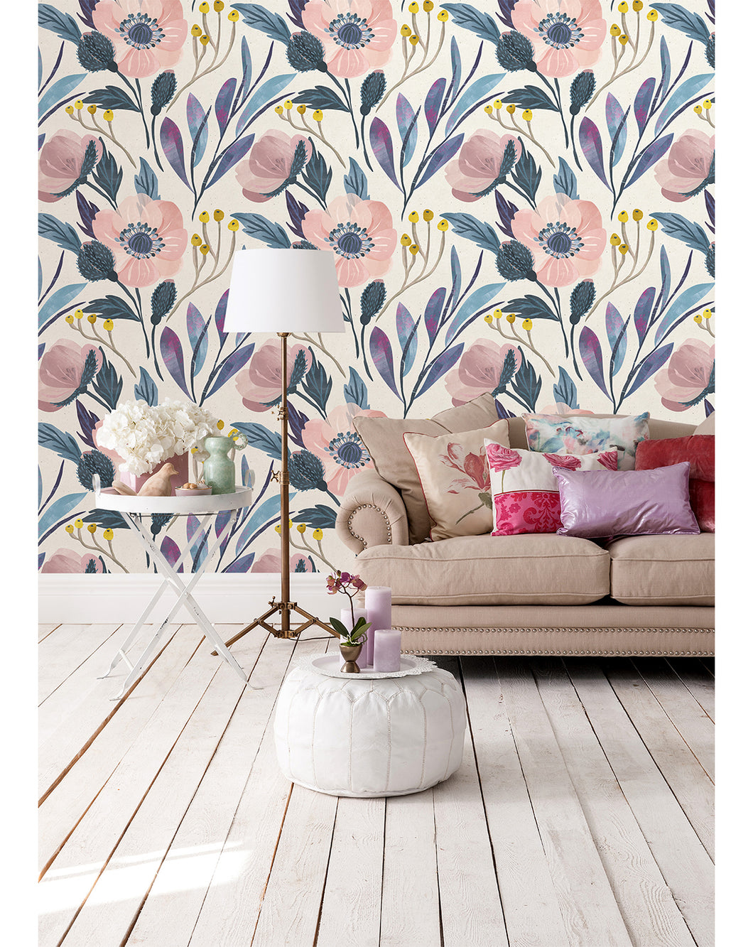 Floral Watercolor Poppy Removable Wallpaper Cc005 Costacover