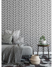 CostaCover Self Adhesive Removable Vinyl Wallpaper with Waving braids, Chevron illustration, great for Bedroom  Living Room wall decor, Peel and stick application CC004
