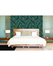 Temporary Self Adhesive Removable Wallpaper Tropical Monstera Palm Leaves Banana Jungle Leafy Lush Accent for Renters CC049