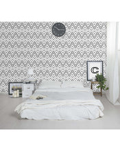 Abstract Black and White Chevron Geometric Removable Wallpaper CC015