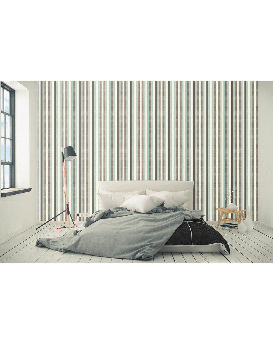 Retro Wall Decor With Geometric Abstract Lines Removable