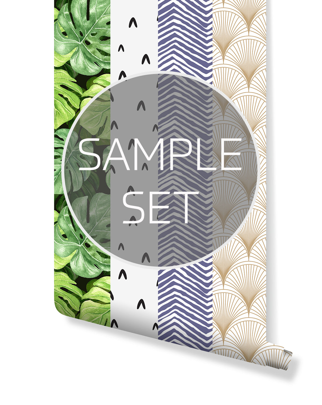Self adhesive removable wallpaper sample set by costacover