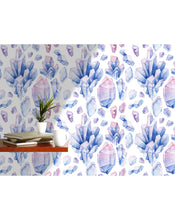 image 0  image 1  image 2  image 3  image 4  Request a custom order and have something made just for you.  This seller usually responds within 24 hours. Temporary Removable Wallpaper with Watercolor Hand Drawn Blue and Pink Crystals, Cute Self Adhesive Geometric Wall Paper for Home CC175