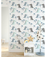 Self Adhesive Dinosaur Doodle Removable Wallpaper CC193