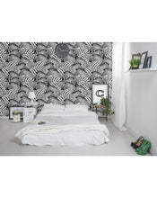 Self Adhesive Wallpaper Black and White Zebras Stick and Peel Removable Safari Wall Decor CC095