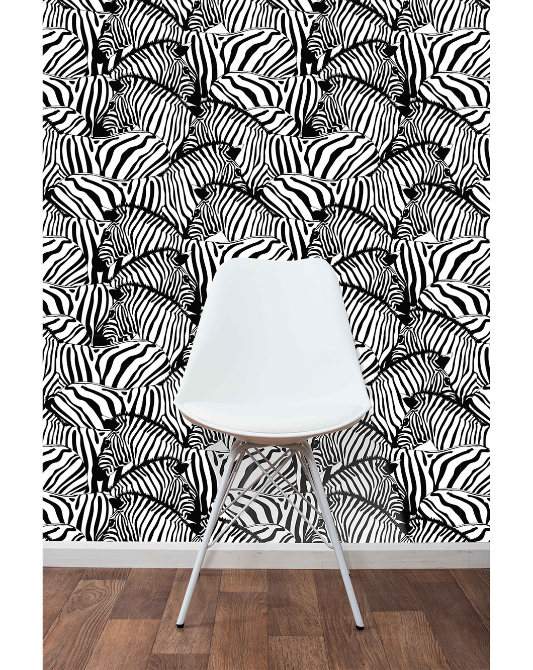 Self Adhesive Removable Wallpaper Black And White Zebras Wall Decor Costacover