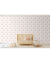 Peel and Stick Removable Wallpaper Watercolor Exotic Pink Flamingo Tropical Wall Covering Self Adhesive Vinyl For Nursery kids room, girl room CC106