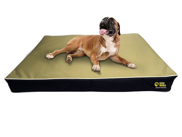"Memory Foam Slabs 15cm (6"") Thick Waterproof 600 Denier Fabric + Inner Protective Cover is Also Water Resistant - Pet Goodys"