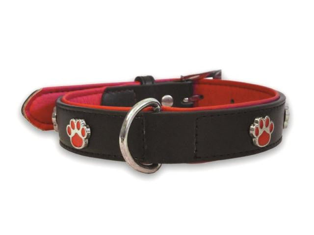 Paws Black Dog Collar - Small - Pet Goodys