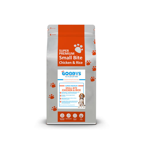 Super Premium Dog Food- Adult Small Bite Chicken & Rice - Pet Goodys