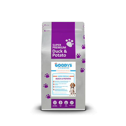 Super Premium Dog Food- Adult Duck & Potato - Pet Goodys