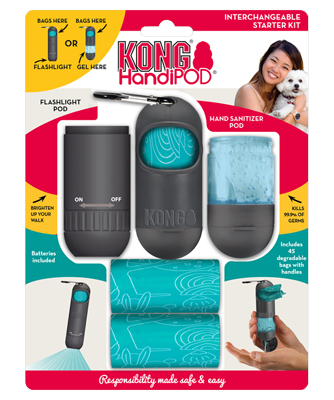 KONG HANDIPOD INTERCHANGEABLE STARTER KIT - Pet Goodys