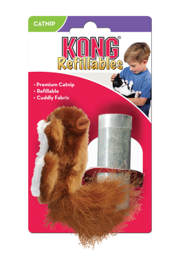 Kong Refillable Catnip Squirrel Cat Toy - Pet Goodys