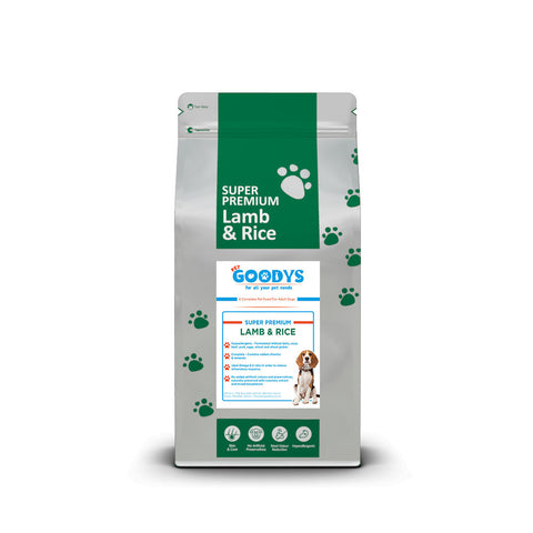 Super Premium Dog Food - Adult Lamb & Rice - Pet Goodys