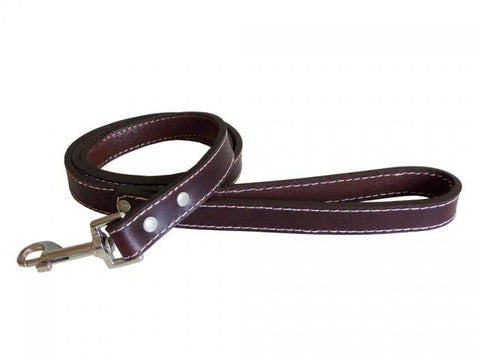 Plain Brown Dog Leather Lead - Pet Goodys
