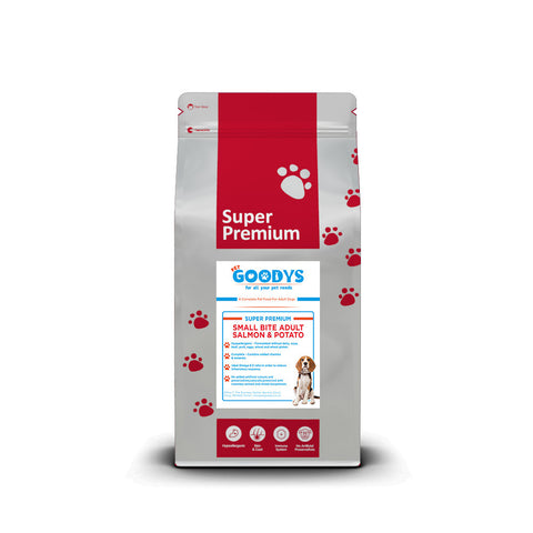 Super Premium - Small Bite Adult Salmon & Potato Dog Food - Pet Goodys