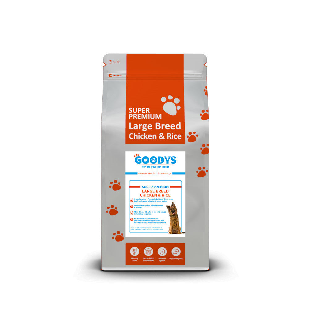 Super Premium Dog Food - Large Breed Adult Chicken & Rice - Pet Goodys