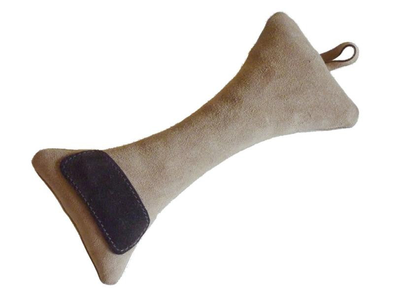Bone Suede Leather Dog Toy - Coffee - Pet Goodys