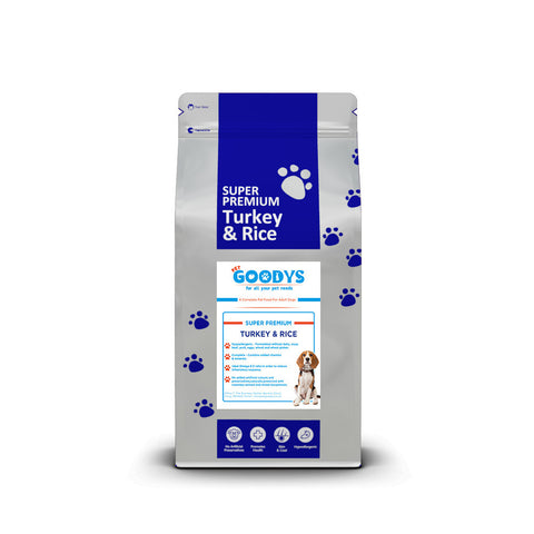 Super Premium Dog Food - Adult Turkey & Rice - Pet Goodys