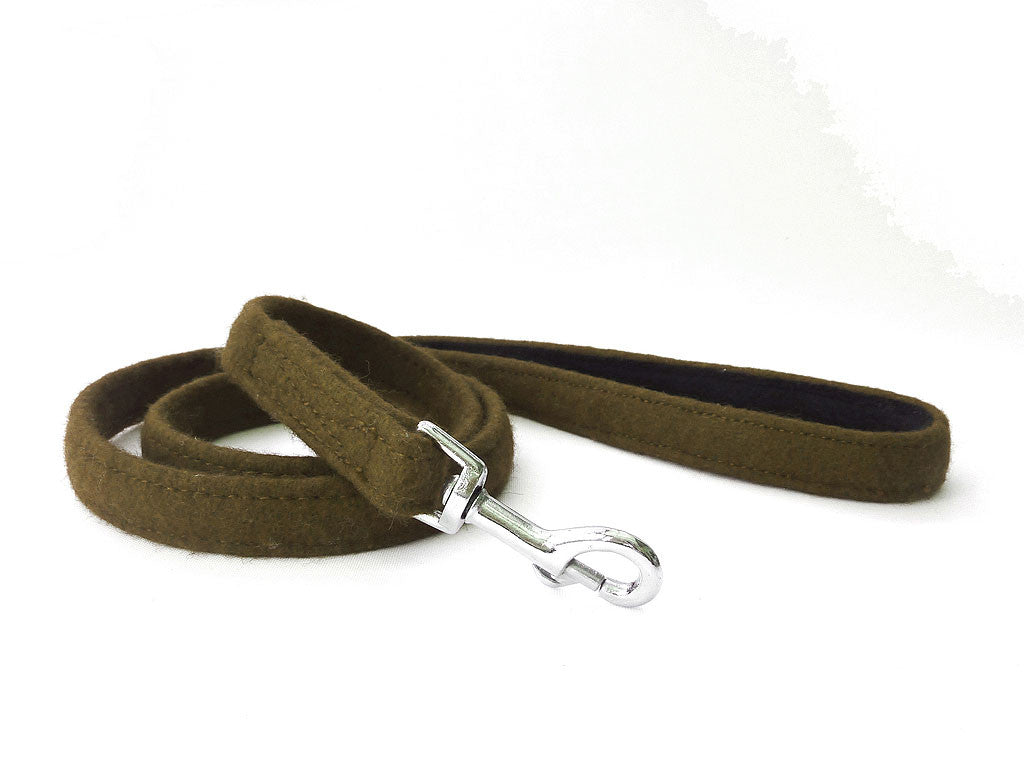 Green Wool Dog Lead - Pet Goodys