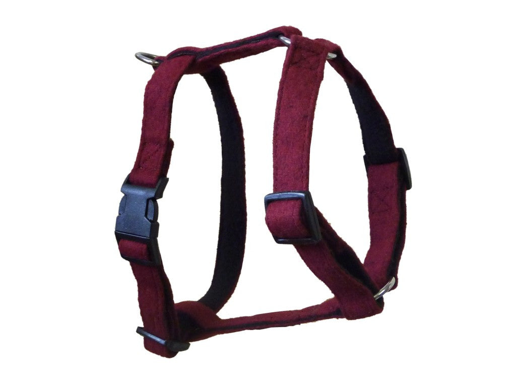 Maroon Wool Dog Harness - Pet Goodys
