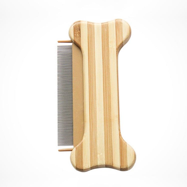 Bamboo Wood Pet Comb Massage Grooming Brush for Dogs - Pet Goodys