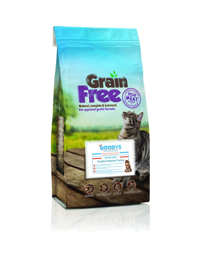 Grain Free Cat Food- Freshly Prepared Turkey - Pet Goodys