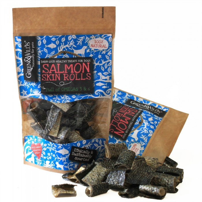 Salmon Skin Rolls 50g - Pet Goodys