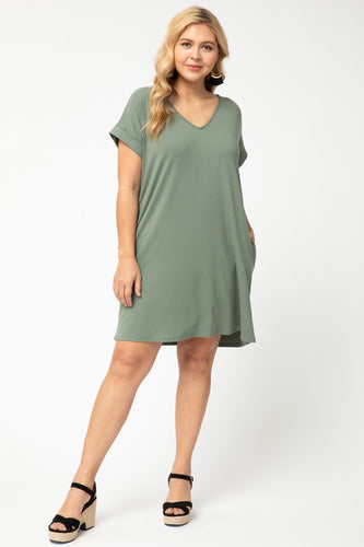 Hulu and Chill v-neck dress