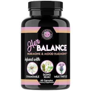 Her Balance Hormone & Mood Harmony Infused with Chamomile, Dong Quai and Milk Thistle