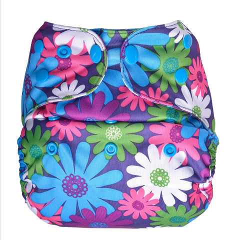 Diaper Cover-Purples flowers