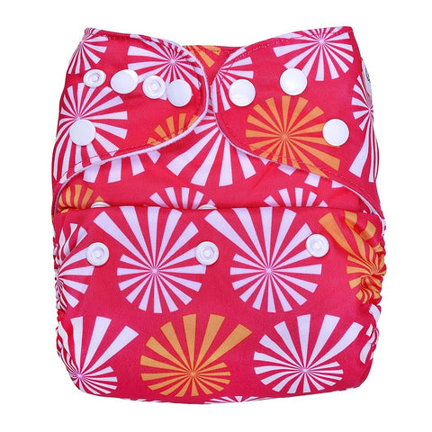Pocket Diaper (Wflower on Pink)