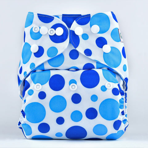 Pocket Diaper (Blue Dots)