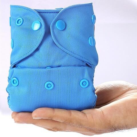 New born Cover Diaper + 1 Bamboo Insert (SMALL) - BLUE