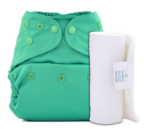 Bumberry Cover Diaper (Blue Green) + 1 Wet free Insert
