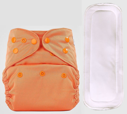 Bumberry Cover Diaper (Scarlet) + 1 Wet free Insert