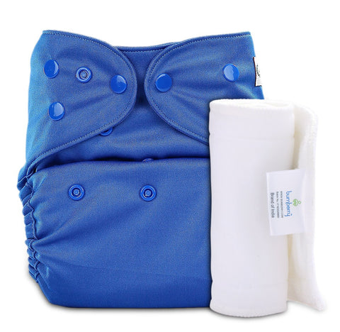 Bumberry Cover Diaper (Deep Blue) + 1 Wet free Insert