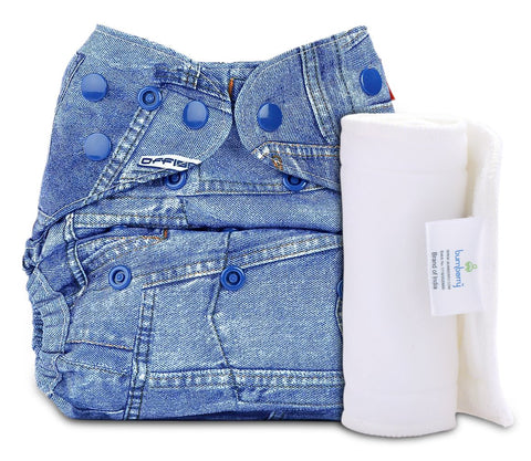 Bumberry Cover Diaper (Jeans) + 1 WetfreeInsert