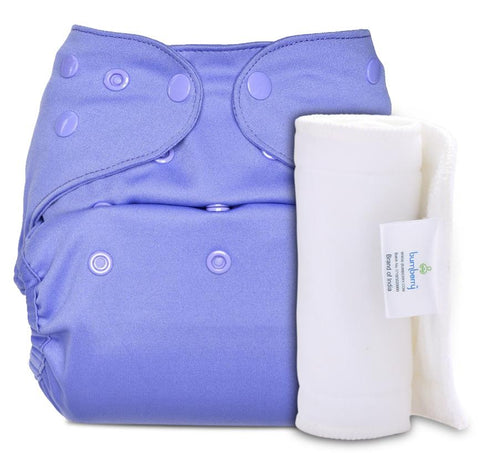 Bumberry Cover Diaper (Lavender) + 1 Wet free Insert