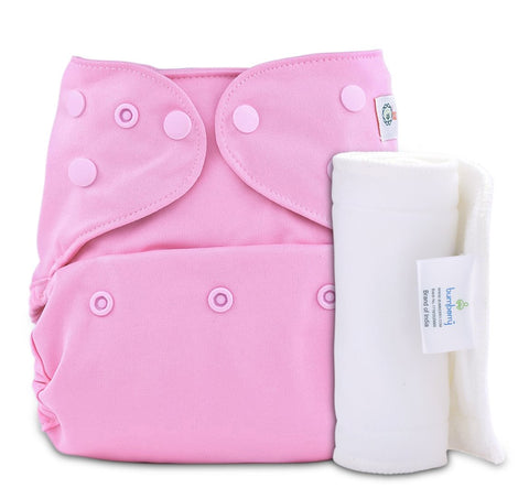 Bumberry Cover Diaper (Pink) + 1 Wet free Insert